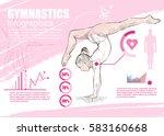 gymnastic infographic vector.... | Shutterstock .eps vector #583160668