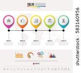 timeline infographics design... | Shutterstock .eps vector #583160956