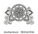 geometric vector horizontal... | Shutterstock .eps vector #583162336
