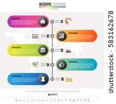 timeline infographics design... | Shutterstock .eps vector #583162678