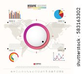 infographics design template... | Shutterstock .eps vector #583163302