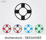 lifebuoy  icon  vector... | Shutterstock .eps vector #583164385
