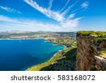 Cliff In The Bay Of Cote D'azur ...
