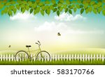 spring nature meadow landscape... | Shutterstock .eps vector #583170766