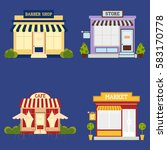 market street store barbershop... | Shutterstock .eps vector #583170778