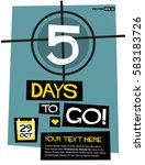 5 days to go   flat style... | Shutterstock .eps vector #583183726