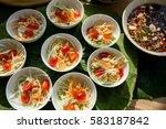 somtam thaifood papaya | Shutterstock . vector #583187842