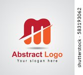 abstract m logo with color red... | Shutterstock .eps vector #583193062