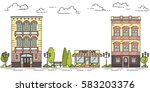 city landscape with houses ... | Shutterstock .eps vector #583203376