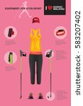 vector illustration of set with ... | Shutterstock .eps vector #583207402