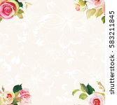 seamless floral pattern with...   Shutterstock .eps vector #583211845