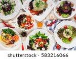 assortment of fresh vegetable... | Shutterstock . vector #583216066