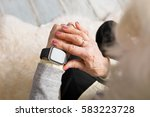 old person using smart watch | Shutterstock . vector #583223728