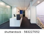 office reception area in a... | Shutterstock . vector #583227052