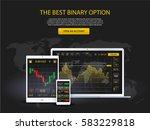 market trade. binary option.... | Shutterstock .eps vector #583229818