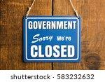"government shutdown concept. ""...   Shutterstock . vector #583232632"