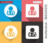 doctor icon. button with doctor ... | Shutterstock .eps vector #583234252
