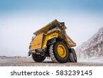 big yellow mining truck | Shutterstock . vector #583239145