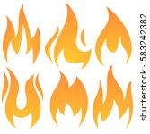 red fire flames isolated. fire... | Shutterstock .eps vector #583242382