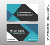 blue corporate business card ... | Shutterstock .eps vector #583243042