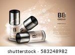 bb cream ads  three glass... | Shutterstock .eps vector #583248982