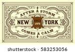 vintage card design with floral ... | Shutterstock .eps vector #583253056