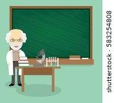 professor standing in front of... | Shutterstock .eps vector #583254808