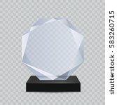 glass transparent trophy award.   Shutterstock .eps vector #583260715