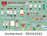 doctor and medical set with... | Shutterstock .eps vector #583263262
