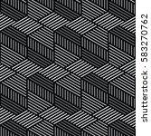 black and white pattern... | Shutterstock .eps vector #583270762