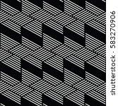 black and white pattern... | Shutterstock .eps vector #583270906