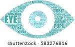 vector eye pictogram tag cloud  ...