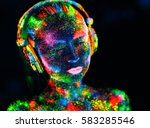 concept. on the body of a girl... | Shutterstock . vector #583285546
