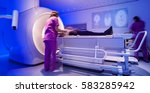 magnetic resonance scanner  | Shutterstock . vector #583285942