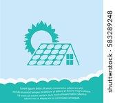 solar collector  icon. vector... | Shutterstock .eps vector #583289248