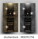 vip elegant invitation cards... | Shutterstock .eps vector #583291756