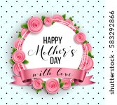 happy mother's day layout... | Shutterstock .eps vector #583292866