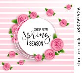 spring season sale offer ... | Shutterstock .eps vector #583292926