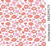 female lips lipstick kiss... | Shutterstock .eps vector #583299175