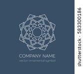 geometric logo template. vector ... | Shutterstock .eps vector #583300186