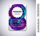 abstract brochure design with... | Shutterstock .eps vector #583306906