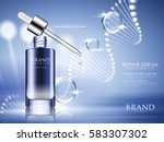 blue repair serum with helical... | Shutterstock .eps vector #583307302