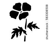 set of vector beautiful flower... | Shutterstock .eps vector #583308508