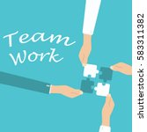teamwork and cooperation... | Shutterstock .eps vector #583311382