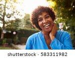 portrait of mature woman in... | Shutterstock . vector #583311982