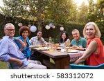 portrait of mature friends... | Shutterstock . vector #583312072
