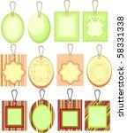 cardboard sales tags | Shutterstock .eps vector #58331338