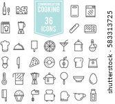 cooking icons set vector design ... | Shutterstock .eps vector #583313725