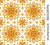 vector abstract seamless pixel... | Shutterstock .eps vector #583328596