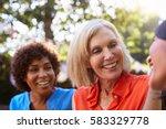 mature female friends...   Shutterstock . vector #583329778